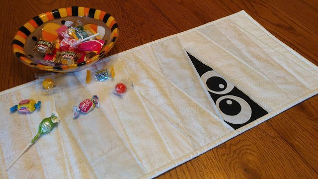 I Want My Mummy Patchwork Table Runner Leftover Fabric Quilt Making