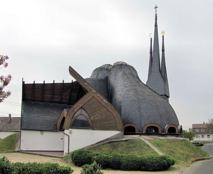 Church of the Holy Spirit, Imre Makovecz, 1992, Paks, Hungary