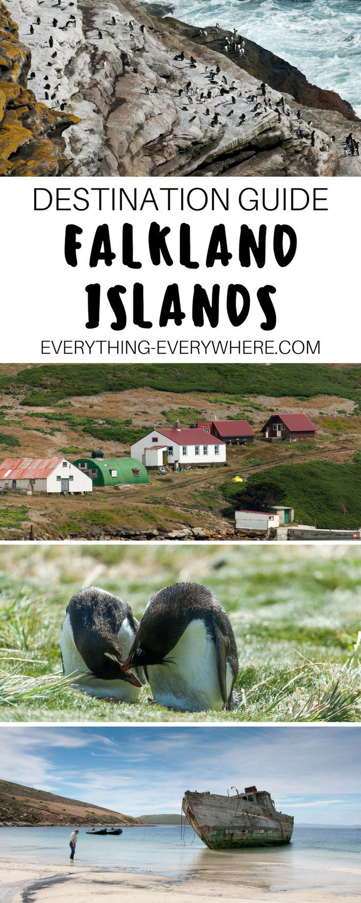 Practical travel tips for anyone planning a trip to the Falkland Islands including best islands and places to visit + information on people / culture, cuisine, airports, visa, and currency. Travel in South America | Everything Everywhere Destination Guide