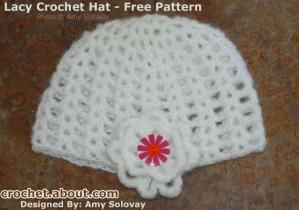 Crocheted Cloche Hat Embellished With a Flower - Photo © 2009 Amy Solovay, Licensed to About.com, Inc.