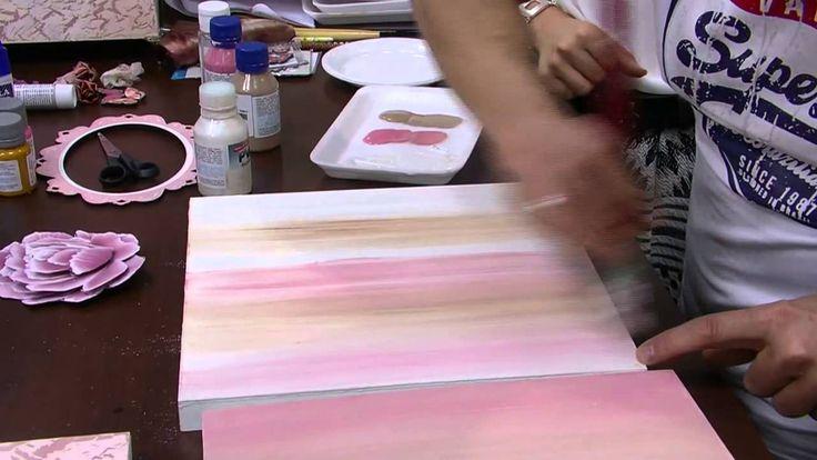 Mulher.com - 01/09/2015 - Caixa craquelada vintage 3d com pintura - Davi...