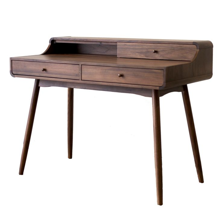 Remi Collection: Dining and Bedroom This is a gorgeous retro feel wood collection is Danish inspired. Solid Walnut throughout every piece. Only the Dining table and buffet have a Walnut Veneer top to prevent cracking. Factory: Malaysia Wood Type: Walnut Hardwood and European Walnut Veneer