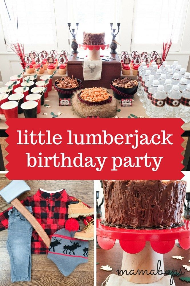 You have to see all the special details in this Little Lumberjack Birthday Party! The lumberjack party theme is gaining popularity for good reason! This is a perfect boy birthday party idea.