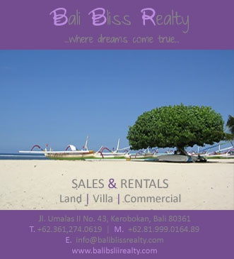 Our ads for September issue  www.baliblissrealty.com