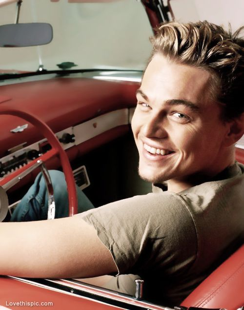 Leonardo DiCaprio, so what this isn't what you look like now, you're still pretty.