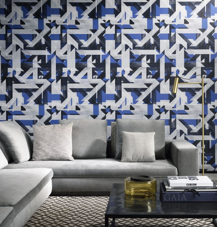 Labyrinth from Arte's Mirage collection is a bold geometric wallcovering featuring multi-toned lines that create a sophiscated contemporary look. This design is perfect for creating a focal point in your room. Available in 3 colourways