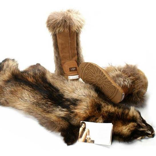 …•… UGG Foxfur Boots 8686 Chestnut ,( ⊙o⊙?) TOP SELLER ON EBAY!!! (^o^)/~