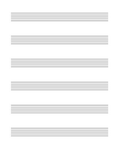 Free Music Staff Lines Paper   FREE MUSIC EDUCATION RESOURCES