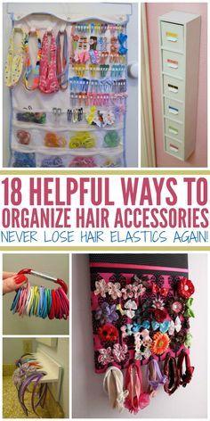 18 Helpful Ways to Organize Hair Accessories