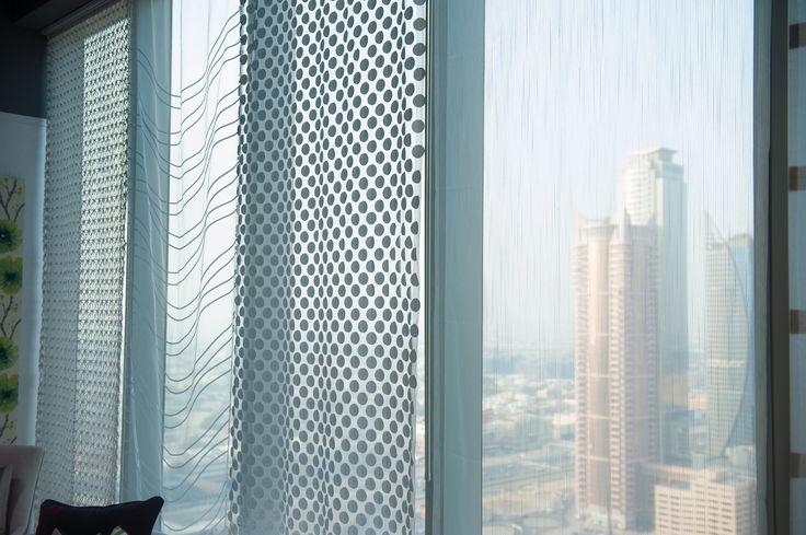 Harlequin's Momentum voiles in our Dubai showroom.