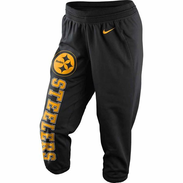 Picture of Pittsburgh Steelers Nike Women's Wildcard All Time Therma-Fit Capri Pant