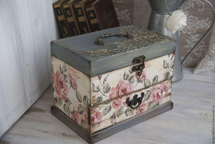 Купить Шкатулка для украшений - шкатулка, золотой цвет, шкатулка для украшений, шкатулка деревянная, шкатулка декупаж