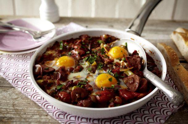 Unser beliebtes Rezept für Menemen (türkisches Bauernfrühstück mit Sucuk) und mehr als 55.000 weitere kostenlose Rezepte auf LECKER.de.