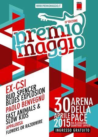 """IV edizione """"Premio Maggio"""" presso l'Anfiteatro Della Pace a #Bari in Via Natale Loiacono, 20. Giovedì 30 Aprile 2015 alle ore 19:00. Ingresso libero."""