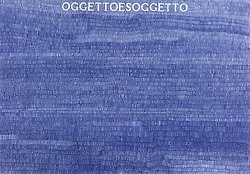 "Very nice Biro work by Alighieri Boetti ""Oggetto e Soggetto"" (Object and Subject), 70 x 100cm, 1980. The surface of the paper is completely outlined in blue ballpoint pen. Private collection."
