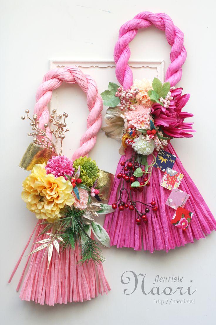 Japanese New Year wreath 2015 お正月 しめ縄リース2015