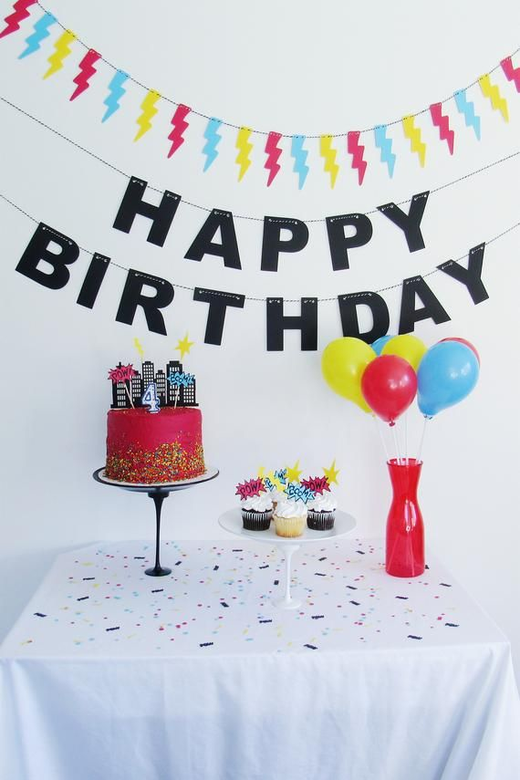 Superhero Party Bundle Birthday Decorations