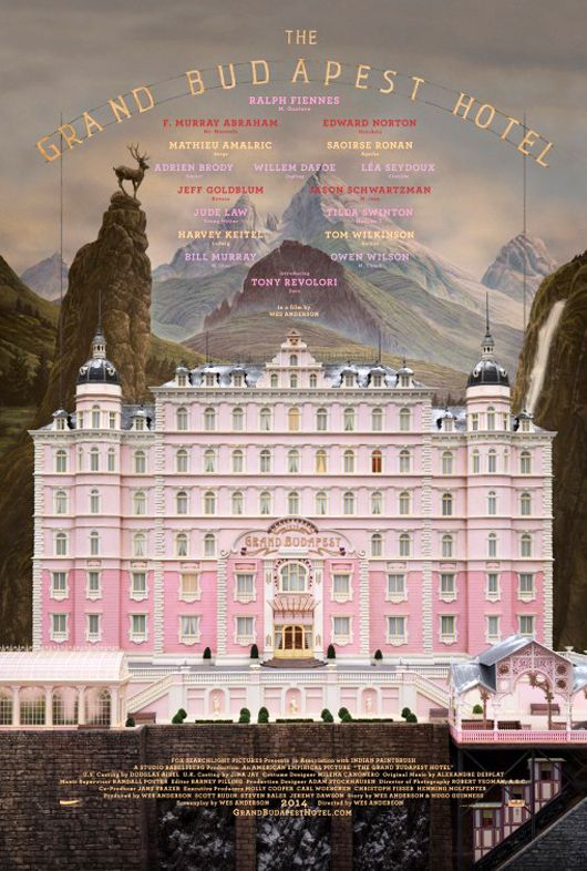 checking in at the grand budapest hotel.