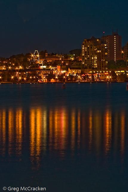 Barrie, Ontario Skyline at Night