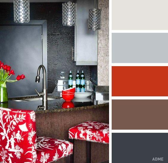 03cacf75538bd Красный и серый – гениальное сочетание цветов, но его можно назвать каким  угодно, только не уютным. Кроме того, красный и серый – это очень  самодостаточное ...
