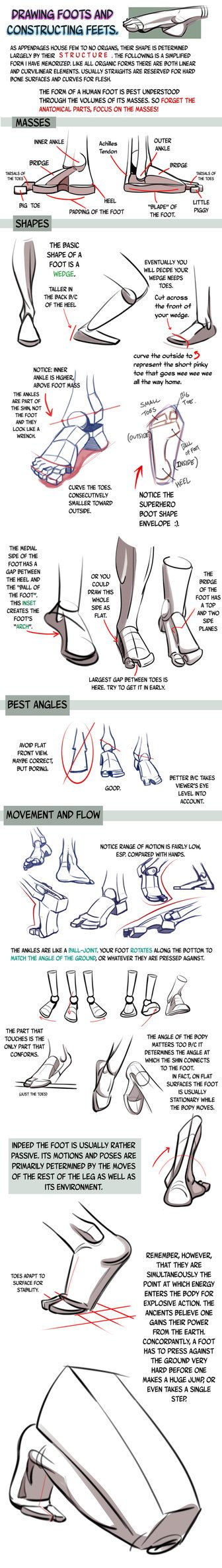 18 best Feet Tutorials images on Pinterest | How to draw, To draw ...