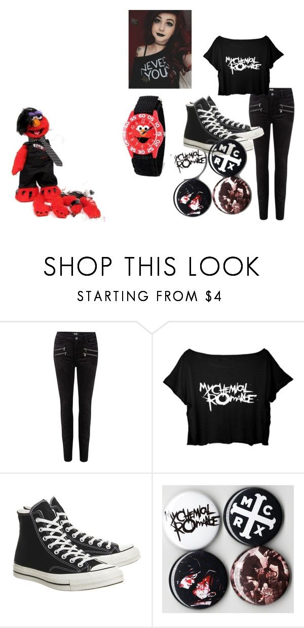 """Untitled #333"" by alex-reid-faulkner ❤ liked on Polyvore featuring Paige Denim, Converse and Sesame Street"