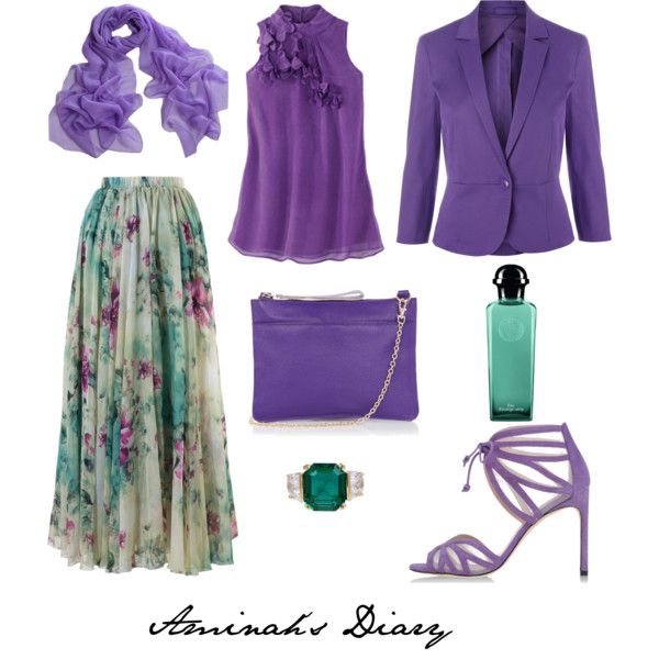 http://aminahshijabdiary.wordpress.com/ #hijab #muslimah #fashion #ootd #outfit #look #style #skirt #flower #print #blazer #lilac #purple #summer