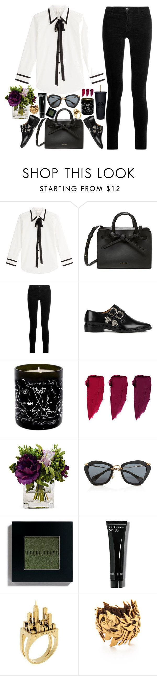 """""""Marc Jacobs look"""" by imperiouspuma ❤ liked on Polyvore featuring Marc Jacobs, J Brand, Toga, Maison Bereto, The French Bee, Miu Miu, Bobbi Brown Cosmetics, CC, Artelier by Cristina Ramella and Oscar de la Renta"""