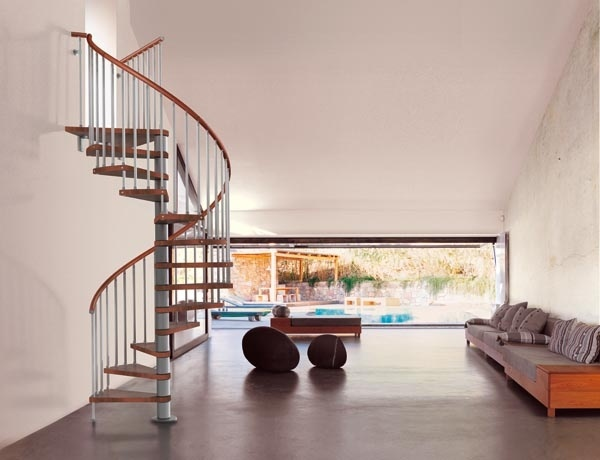 Fontanot Genius 020 spiral staircases: furnish with elegance | Fontanot Staircases