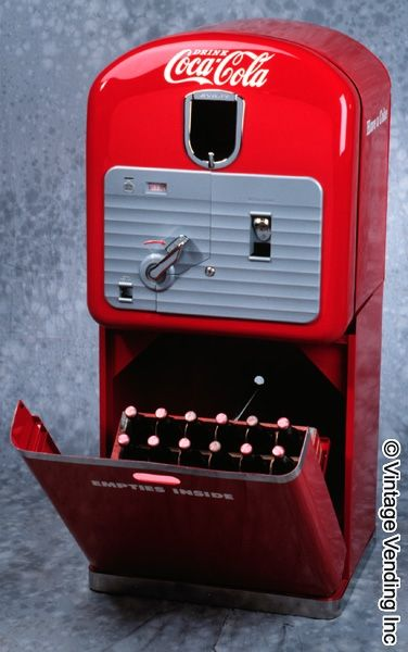 antique coke machines for sale | These machines were made between 1948 and 1951. Pictured here is a VMC ...