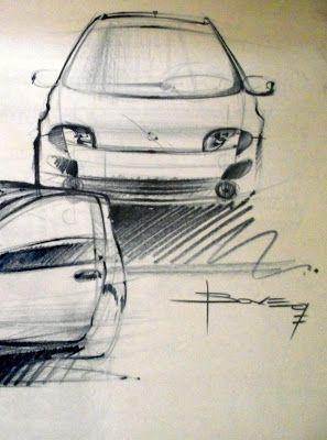 Fiat Seicento car sketches | Car Design Education Tips