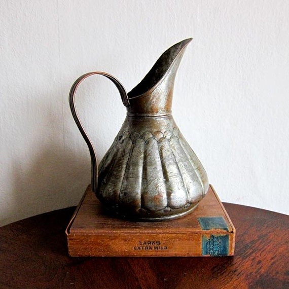 Vintage Copper Industrial Distressed Pitcher