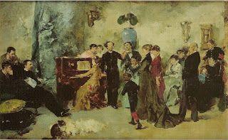 A Arte em Portugal: Columbano Bordalo Pinheiro - Sarau (1880)