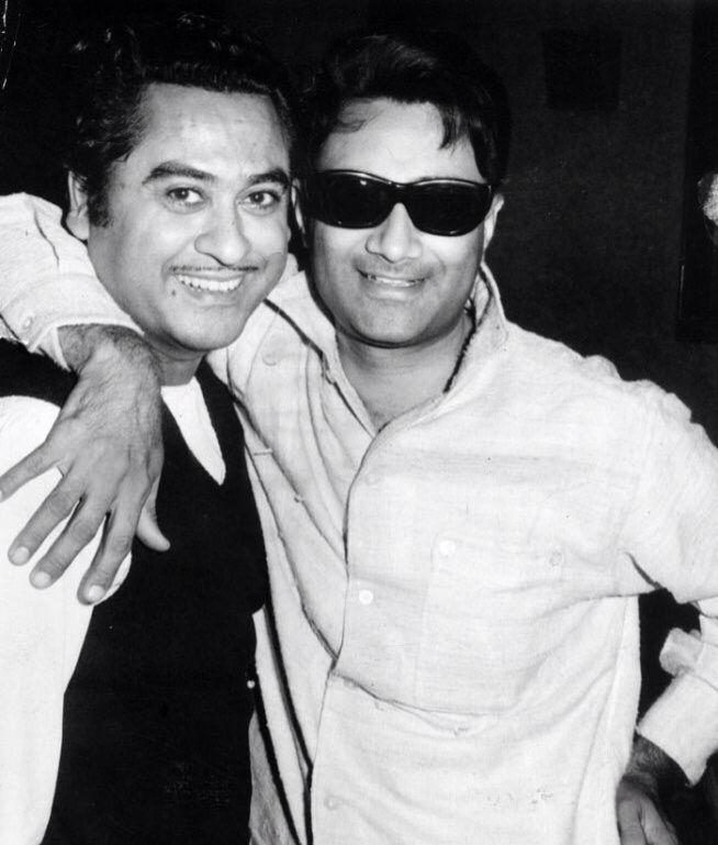Kishore Kumar and Dev Anand