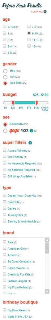 Search and Filter Box Design