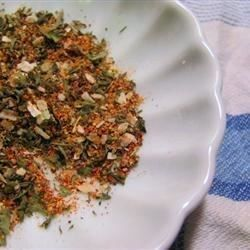 A dry ranch-style seasoning mix which can be combined with either mayonnaise and buttermilk (for a dressing) or mixed with sour cream, and served as a dip.