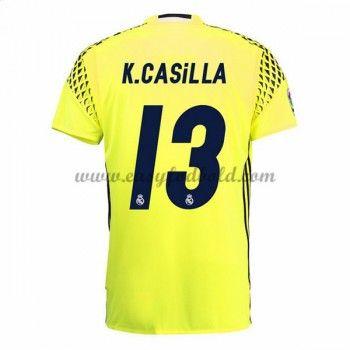 Fodboldtrøjer La Liga Real Madrid 2016-17 Casilla Målmand Udebanetrøje