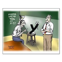 Interrogation. Math Humor.