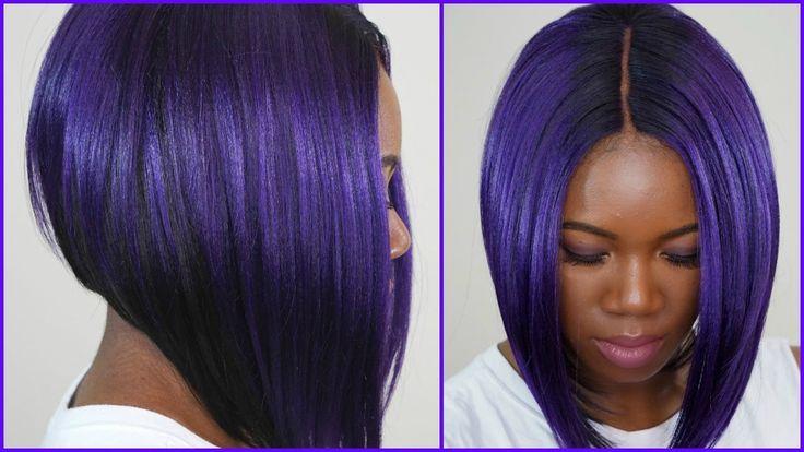 Dope purple bob: MLC 159 wig