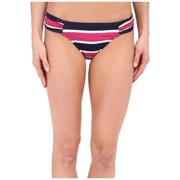 Tommy Bahama Nautical Side Shirred Hipster Women's Swimwear ($66) ❤ liked on Polyvore featuring swimwear, bikinis, bikini bottoms, bikini bottom swimwear, ruched bottom bikini, striped bikini, tommy bahama bikini bottom and nautical bikini