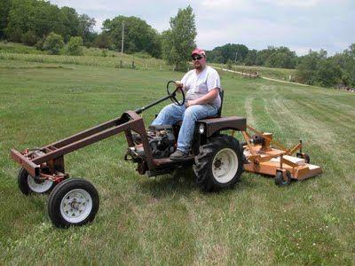 home built garden tractor -