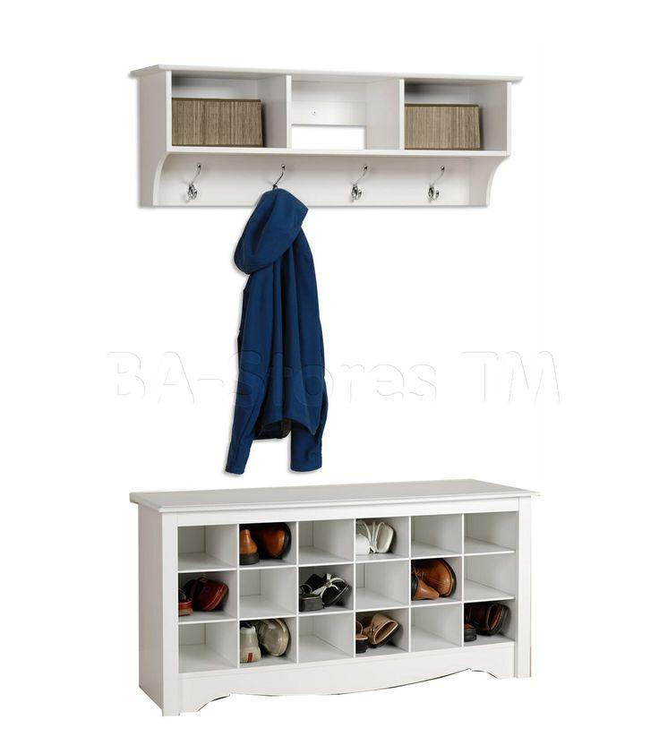 coat+storage+options+in+entryway   Shoe & Coat Storage: Prepac Shoe Storage Cubbie Bench and Shelf in ...