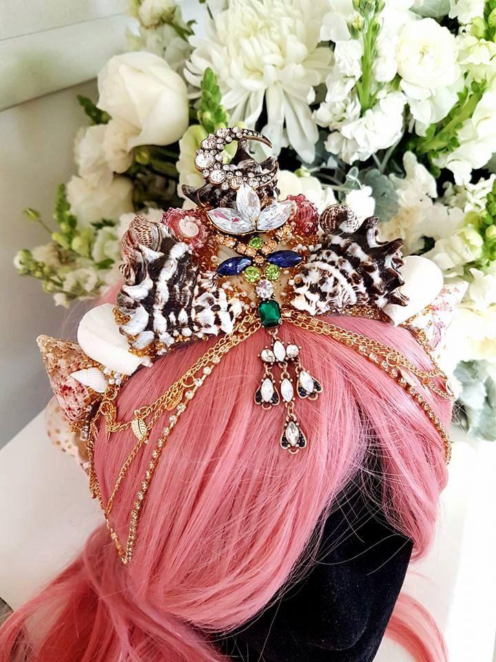 Seashell Mermaid Crown by WildFlowerByMelissa on Etsy