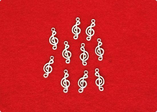 Set 10 pandantive - note muzicale - Charmuri, pandante, martisoare, bijuterii. | Casa Retro - magazin on-line jucarii educative-bricolaj-jocuri logice