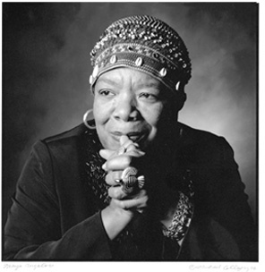 Maya D'Angelou because beauty lies in wisdom, kindness, humor and growing old gracefully.