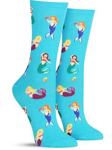 mermaid socks!!!! http://sockdrawer.com/collections/womens-socks/products/mermaid-socks