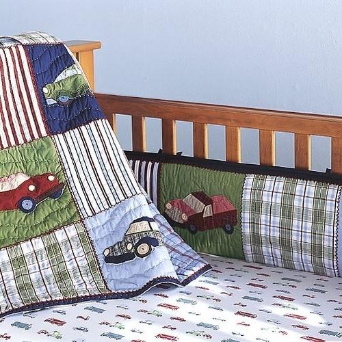 Pottery Barn Cars And Trucks Crib Bedding Set~Boy~NEW