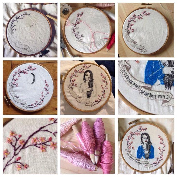 STEP by STEP | Alina | filo di cotone su cotone #art #artoftheday #handmade #madeinitaly #ricamo #agoefilo #lettering #adrenalinamakeup #embroidery #textile #design #craft #fromanotheroom #rossellaogliarulo #rossellagiasai #artigianato
