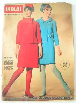 Revista ¡HOLA! Extraordinario de la Moda Primavera-Verano 1966, más de 200 modelos, 62 páginas, 18 €