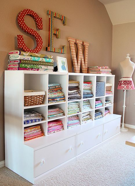 Fabric Storage by craftapple, via Flickr